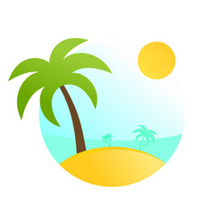 tropical travel scenery vector image