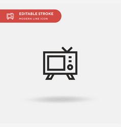 tv simple icon symbol design vector image