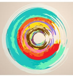 Watercolor Abstract Circles vector