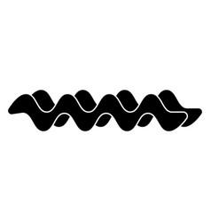 Wave the black color icon vector