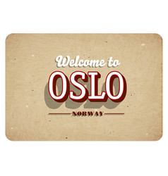 welcome to oslo vector image
