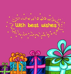 With best wishes vector image