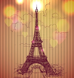 World famous landmark series Eiffel Tower Paris vector image