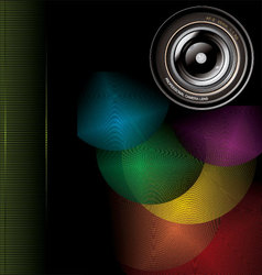 camera lens background vector image vector image