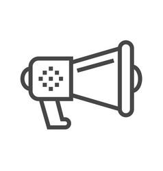 loud speaker thin line icon vector image