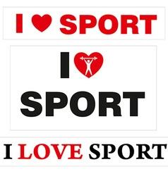 LoveSport vector image vector image
