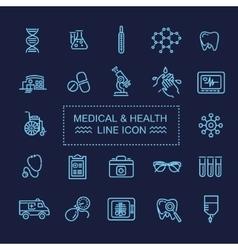 Thin lines web icon set - Medicine and Health vector image vector image