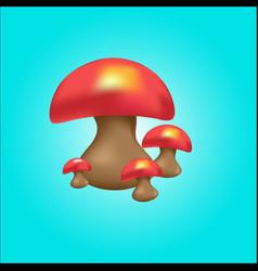 cute mushroom vector image