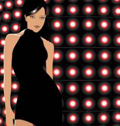 disco party girl vector image vector image
