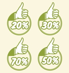 popust thumbs up4 vector image vector image