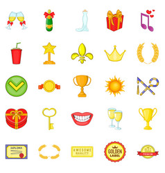 scholarship icons set cartoon style vector image vector image