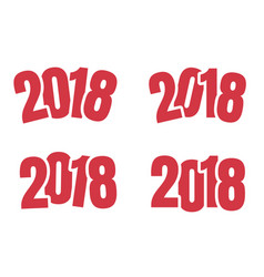 2018 logo sign of new year vector