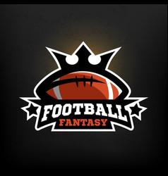 american football fantasy logo vector image vector image