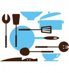 cooking utensils vector image