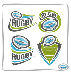 logo rugby ball vector image vector image