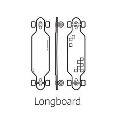 Modern long board desk set vector