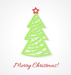 Abstract Christmas tree on white background vector image