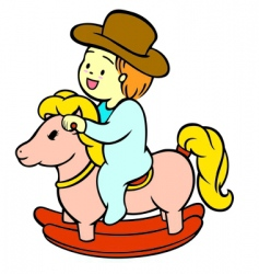 baby riding vector image vector image
