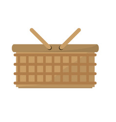 Basket picnic food image vector