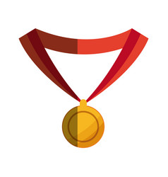 medal award prize winner sport vector image