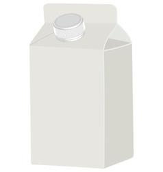 Milk blank white packing vector image