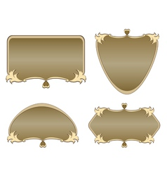 set of labels of various shapes vector image vector image