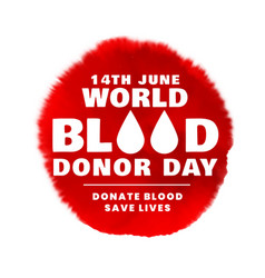 14th june world blood donor day poster concept vector