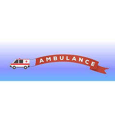 Ambulance car in flat style vector