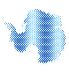 Antarctica map population demographics vector