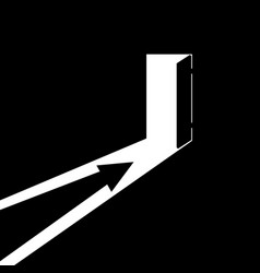 Arrow showing the direction vector