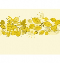 autumn leaves background vector image