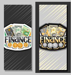 banners for finance vector image