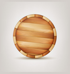 Barrel wooden sign wooden 3d icon vector