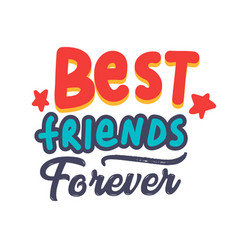Best friends forever banner or poster with vector