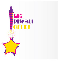 big diwali offer poster design vector image