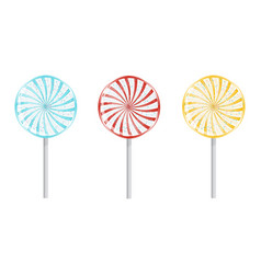 birthday lollipops isolated vector image