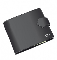 Black wallet vector