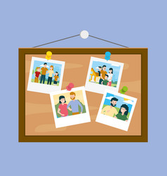 Board with photos family day vector