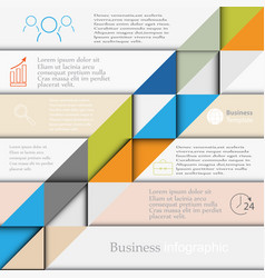 Business template infographics vector