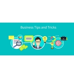 Business Tips and Tricks Design vector