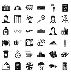 Certification icons set simple style vector