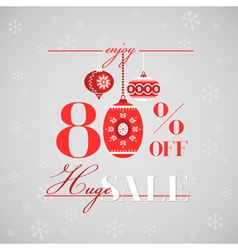 Christmas Sale Poster or Banner vector image