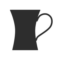 Coffee tea cup Mug for drinks Black silhouette vector image