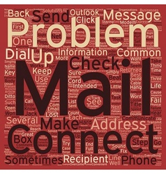 Common E Mail Problems and What To Do About Them vector image