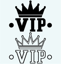 Crown on the acronym VIP vector image