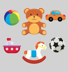 Cute Children Toys Collection vector image vector image