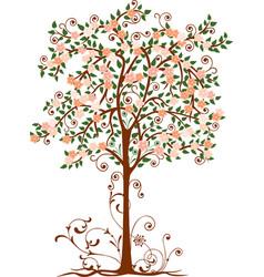Decorative blossoming tree vector