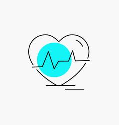 Ecg heart heartbeat pulse beat line icon vector