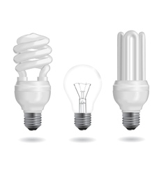 energy efficiency bulb vector image