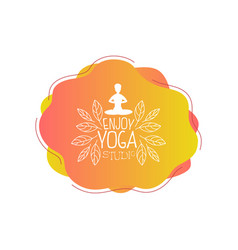 enjoy yoga studio template design element can vector image
